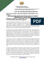 NOTA DE PRENSA N° 048 EXPOSICIÓN SOLAR ULTRAVIOLETA EN AREQUIPA LA MÁS ALTA DEL MUNDO ARMA INFORMÓ EN I.E. LEÓN XIII CAYMA
