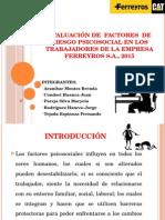 Evaluación de Factores de Riesgo Psicosocial Ferreyros s.a.