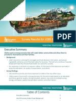 Envision Utah's Survey results for Jobs & Economy