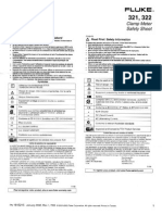 FLUKE 321-322_Clamp Meter Safety Sheet