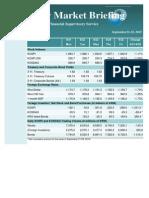 Weekly Market Briefing, September 21-25, 2015