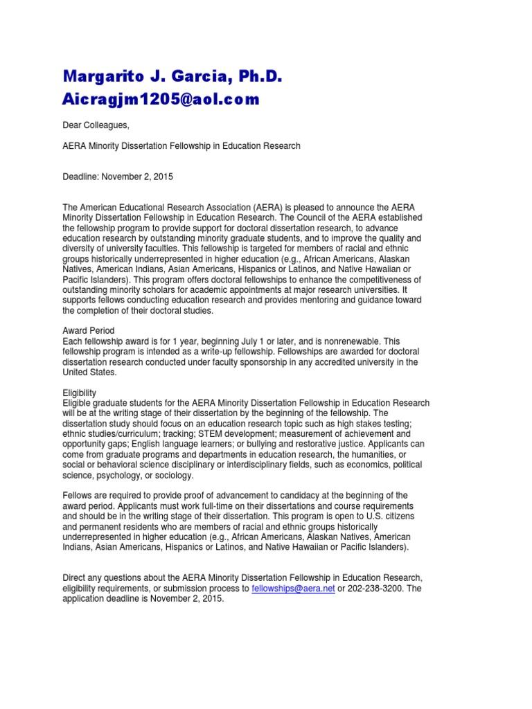 Acculturation aera dissertation grant