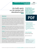 Community health agents and the interface with educational actions