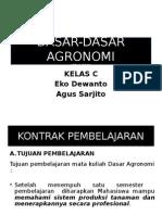 Dasar Agronomi (Pak Agus Sarjito)