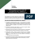 procedimientos EN CASO DE ACCIDENTE