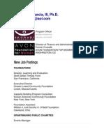 Margarito J. Garcia, III, Ph.D. - Foundations Jobs