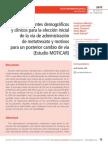 Condicionantes demográfios y clínicos para la elección inicial de la vía de administración de metotrexato y motivos para un posterior cambio de vía (Estudio MOTICAR)
