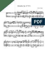 Chopin. Mazurka Op.67 no4