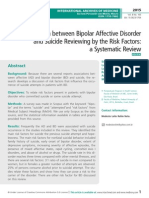 Correlation between Bipolar Affective Disorder and Suicide Reviewing by the Risk Factors