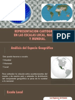 Representacion Cartografica en Las Escalas Local, Nacional