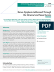 Craniofacial Fibrous Dysplasia Addressed Through the Intraoral and Nasal Access