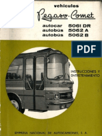 Manual Pegaso Comet modelos 5061 - 5062