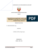 Requisitos de Hardware y Software Para La Implementacion de Una Plataforma Para El Comercio Electrónico