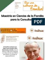 Maestría en Ciencias de La Familia Para La Consultoría Presentación