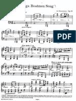 Glazunov - Op.97 - Song of the Volga Boatmen