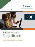 Altamira Recruiting Brochure Spanish
