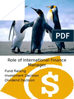 Role of International Finance Manager