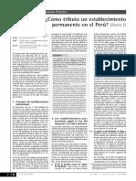 Comó Tributa Un Establecimiento Permanente en El Perú - i Parte