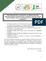 2- Recommandations Forum Maradi