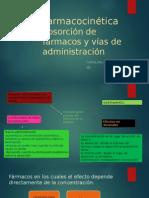 Farmaco-cinética, Absorcion de farmacos y vias de administracion.pptx