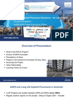 AAPAs Asphalt Pavement Solutions – for Life Project