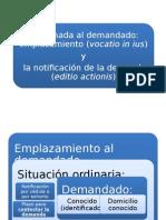 Derecho Procesal Civil i - Postulacion II.emplazamiento 2015