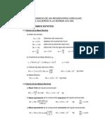 Calculos en Mathcad - Reservorio Circular Segun ACI350