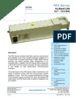 Paradise Datacom RF2 Series Ku-band LNA Data Sheet 200416 RevM