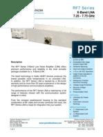 Paradise Datacom RF7 Series X-band LNA Data Sheet 200415 RevL