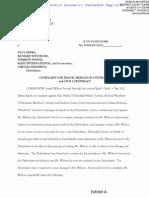Joseph Wilson lawsuit against Symbion