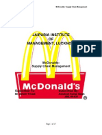 mc donalds - supply chain management