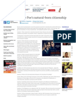 Q and a on Grace Poe's Natural-born Citizenship Inquirer Opinion[1]