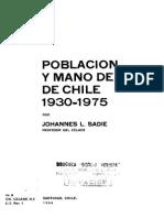 Poblacion y Mano de Obra en Chile 1930-1975
