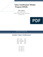 Analisis Faktor Konfirmatori Melalui Program EXCEL