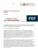 2014-11-14 ALAI Lafferriere Argentina y El Posneoliberalismo de Sader