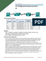 Configuración de direcciones IPv6 en dispositivos de red