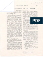 Hunt - The Master's Word and the Letter G 1932 Raw