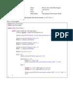 Contoh tugas OOP Java