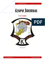 Kenpo Journal User Guide