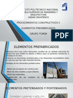 Elementos Prefabricados Postensados y Pretensados Procedimientos Constructivos II (1)
