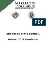 Arkansas Knights of Columbus Newsletter October 2015