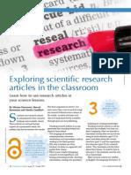 Artículos de investigación en clase