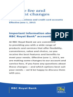 RBC Service Fees and Charges
