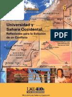 UNIVERSIDAD Y SÁHARA OCCIDENTAL.Reflexiones para la solución e un conflicto. 2009