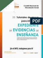TUTORIAL DE APOYO PARA INTEGRAR EL EXPEDIENTE DE EVIDENCIAS