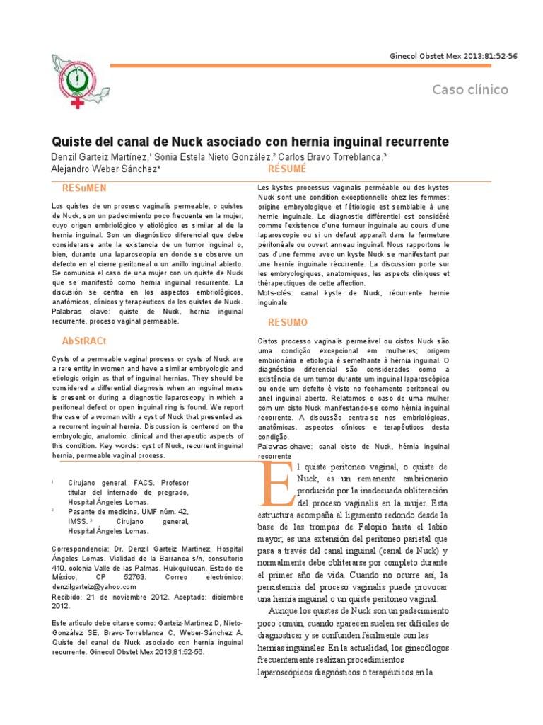 Cirugia hernia inguinal imss
