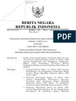 Permen LH No. 5 Tahun 2014 Tentang Baku Mutu Air Limbah