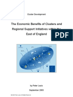 Economic Benefits of Clusters and Cluster Development Within the East of England