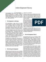 Postdevelopment Theory