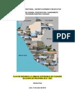 Plan Desarrollo Ciudades Sostenibles Zonas de Frontera